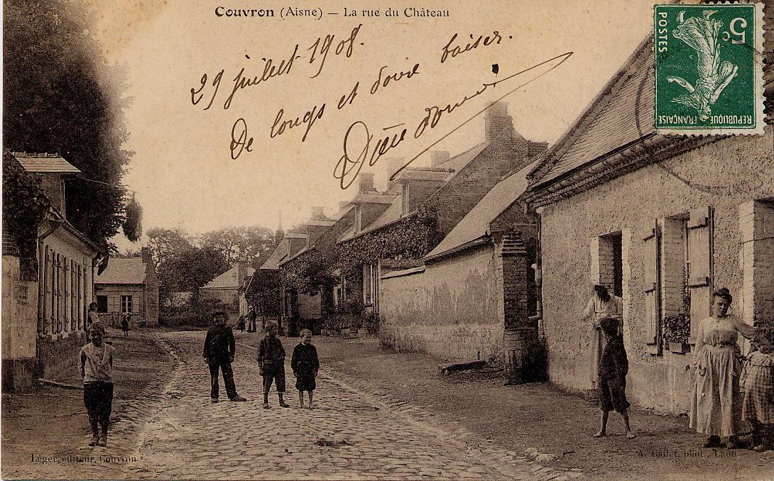 Rue du Château 1908