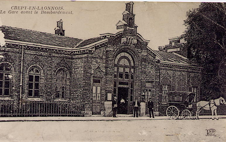 Gare avant bombardement guerre 14-18