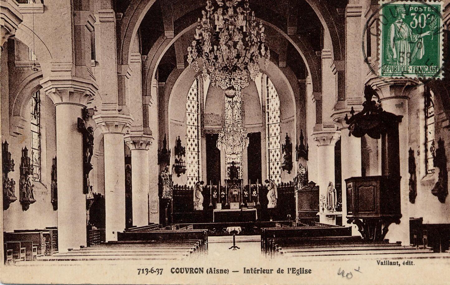 Intérieur Eglise 1938