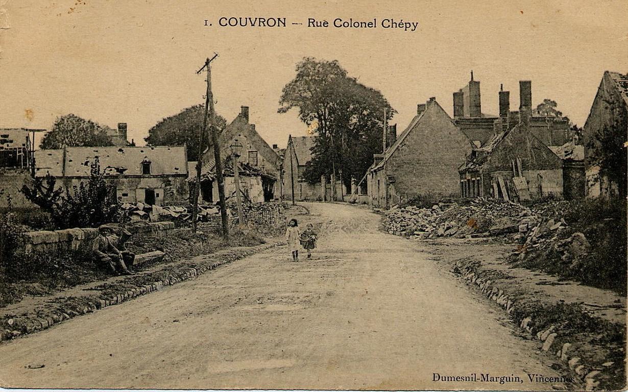 Rue du Colonel Chépy détruite ap 1918