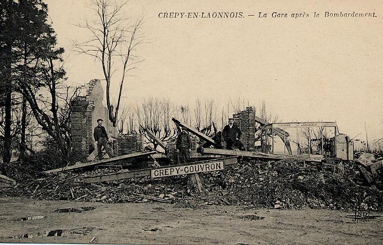 gare en ruines