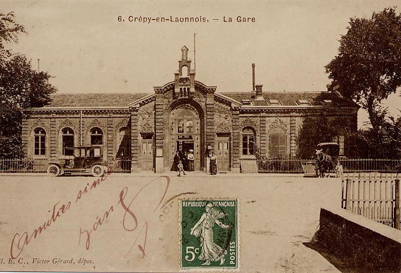 Gare avant bombardement guerre 14-18 2