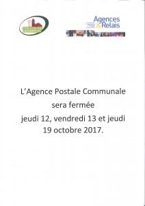 Fermeture de l'Agence Postale Communale @ Agence Postale Communale | Couvron-et-Aumencourt | Hauts-de-France | France
