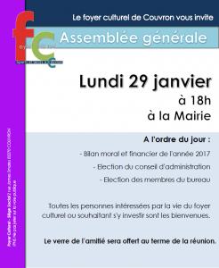 Assemblée générale du Foyer Culturel @ Mairie de Couvron | Couvron-et-Aumencourt | Hauts-de-France | France