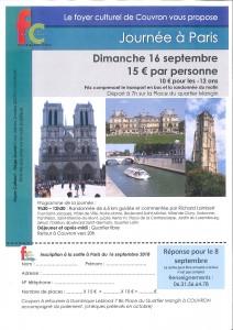 Sortie à Paris - Foyer Culturel @ Départ à 7h | Couvron-et-Aumencourt | Hauts-de-France | France