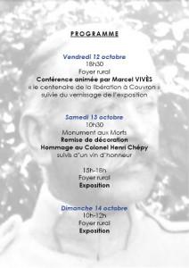 Commémoration du Centenaire de la libération de Couvron @ Foyer rural | Couvron-et-Aumencourt | Hauts-de-France | France