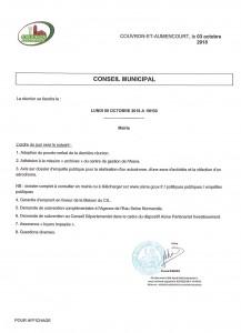 Conseil Municipal @ Mairie (l'entrée s'effectue par le porche 19 rue du Colonel Chépy) | Couvron-et-Aumencourt | Hauts-de-France | France