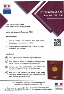 Demande passeport CNI