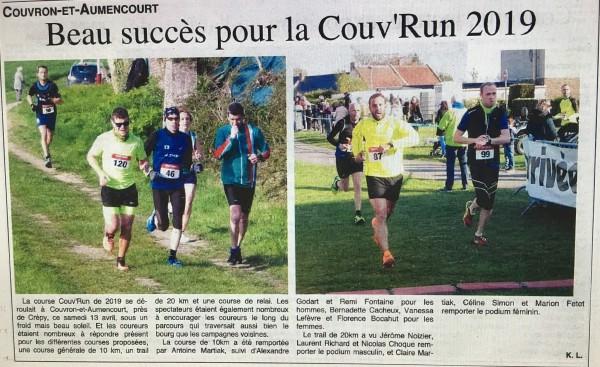 Beau succès pour la Couv'Run 2019