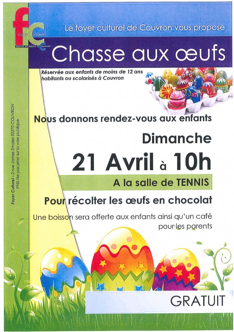 Chasse aux Oeufs @ Tennis Couvert