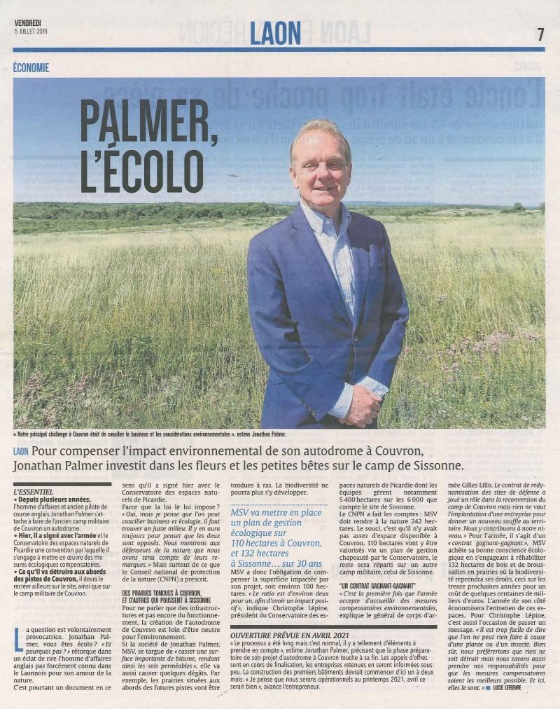 PALMER L'ECOLO_L'Union du 5 juillet 2019