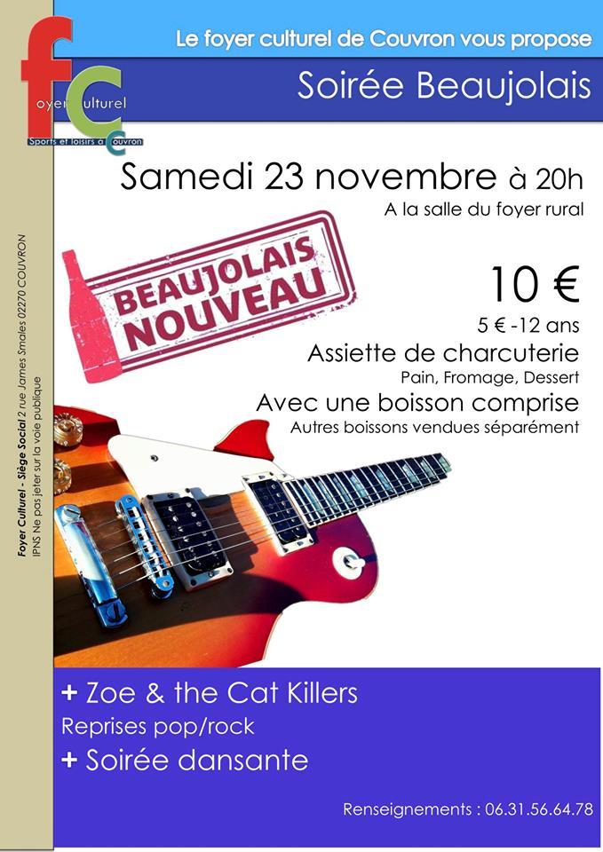 Soirée Beaujolais @ Foyer rural, 19 rue du Colonel Chépy