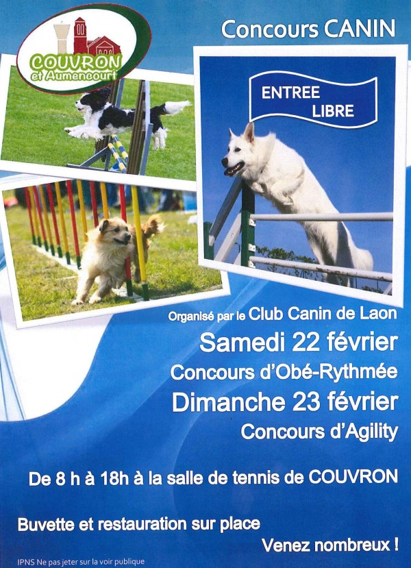 Concours CANIN @ Tennis Couvert