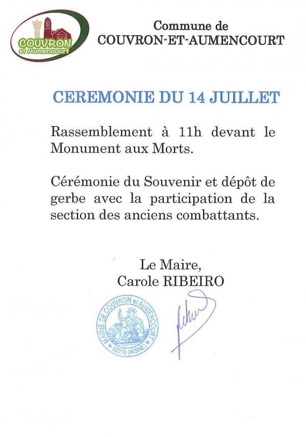 Fête Nationale @ Monument aux Morts