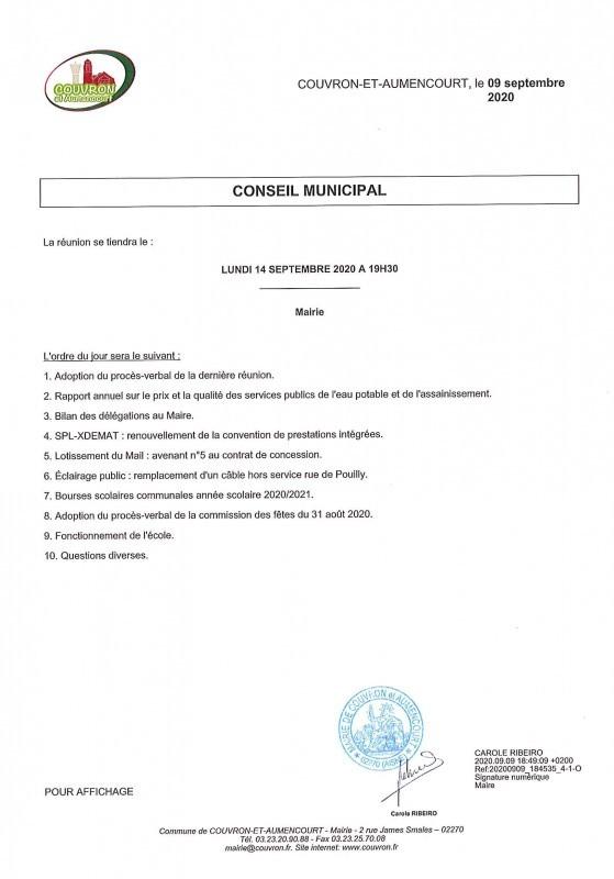 Réunion de Conseil Municipal @ Mairie