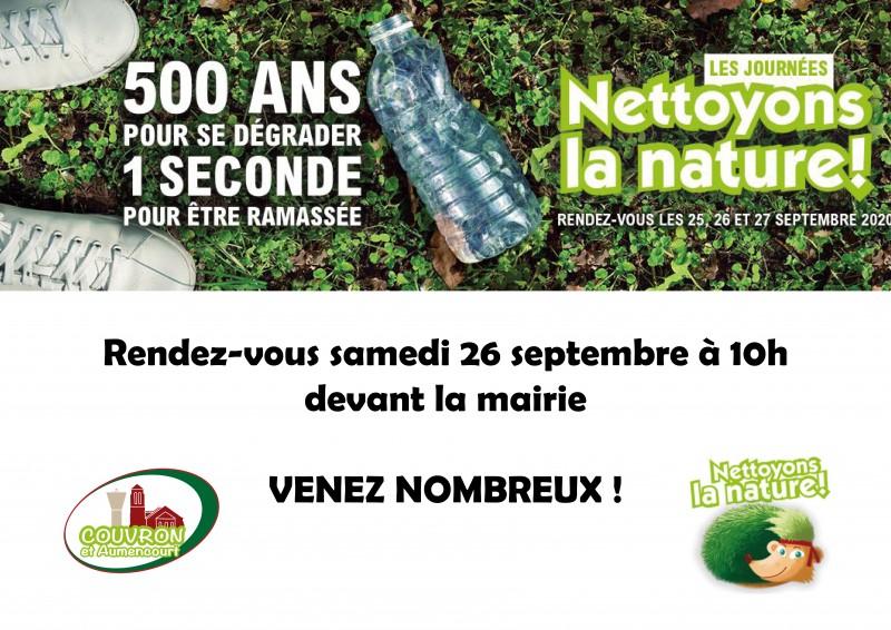 Nettoyons la nature ! @ RDV devant la mairie