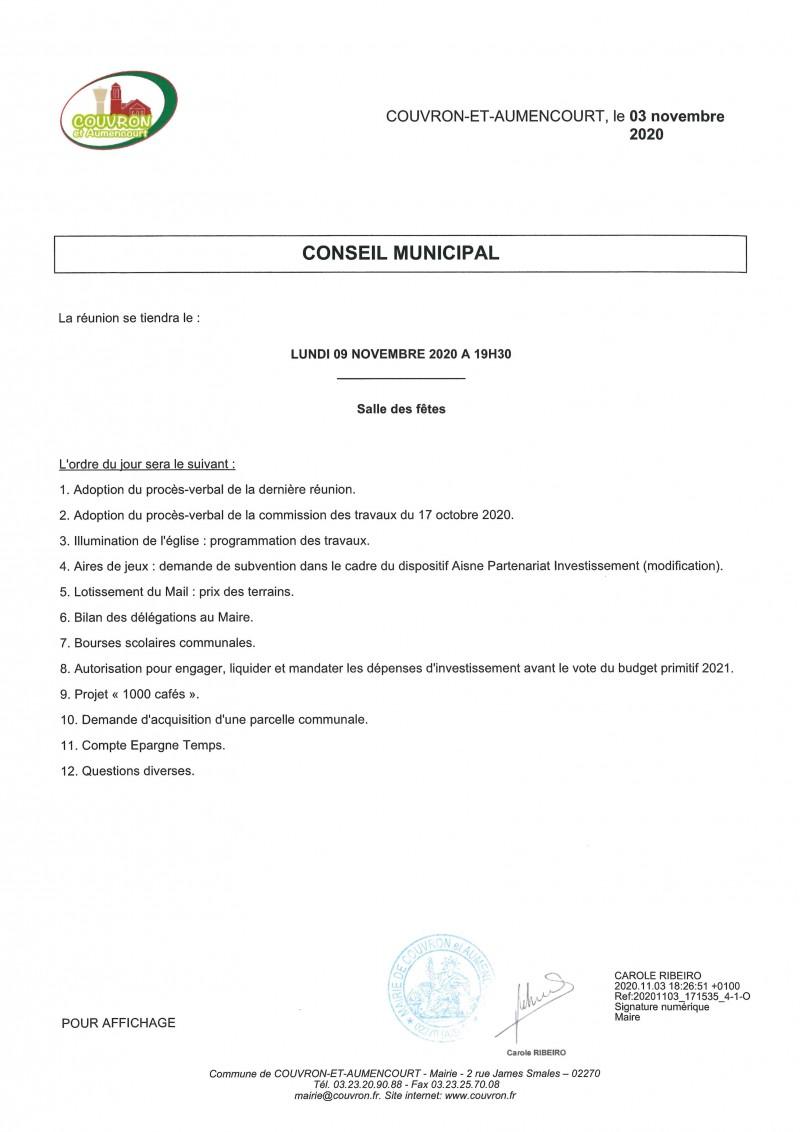 Conseil Municipal @ Salle des Fêtes